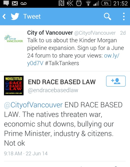 City of Vancouver Tweet
